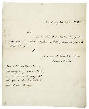 Samuel A. Otis Signed Letter 1801