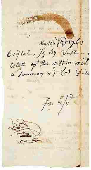 Robert Treat Paine Signed Document