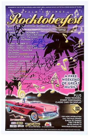 R&B Signed Roctoberfest Poster
