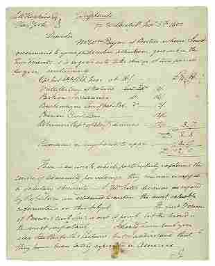 John Trumbull Autograph Letter 1800