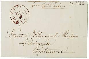 Thomas Tucker Signed Free Frank, 1817