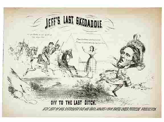 2182: Civil War Caricature-Capture of Jeff Davis