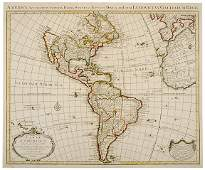 2304 1739 Engraving of Map of America