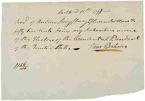1797 Pay Receipt - Presidential Elector
