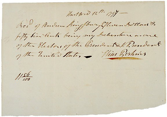 1: 1797 Pay Receipt - Presidential Elector