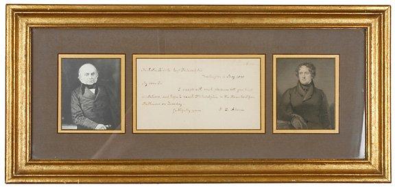 2: 1835 Autographed Letter Signed J. Q. Adams