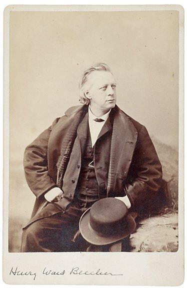7: Cabinet Photograph, Henry Ward Beecher