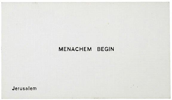 8: Israeli MENACHEM BEGIN Signed Card