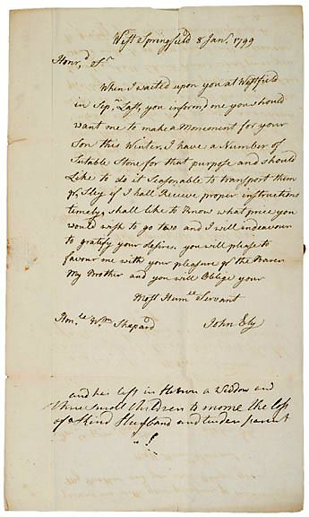 Autograph Letter Signed John Bly 1799