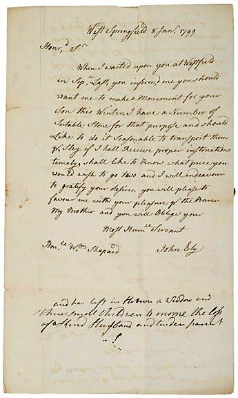 10: Autograph Letter Signed John Bly 1799