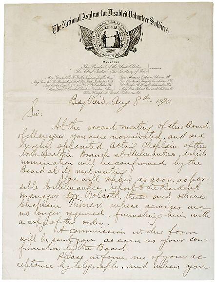 Letter Signed, Benj. Butler, August 8, 1870