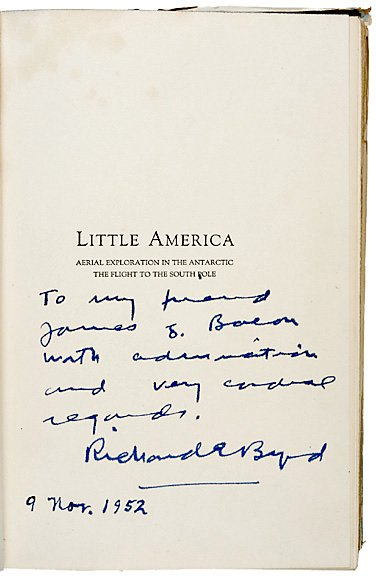 17: First Edition Book Signed by Richard .E. Byrd