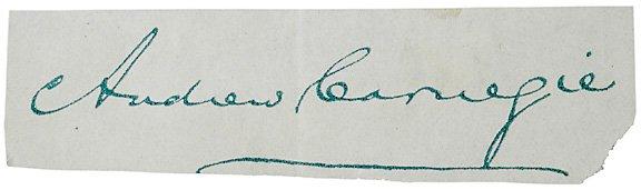 18: Clipped Signature, Andrew Carnegie