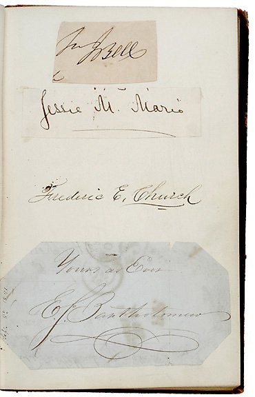 23: Frederick S. Church Signed Album