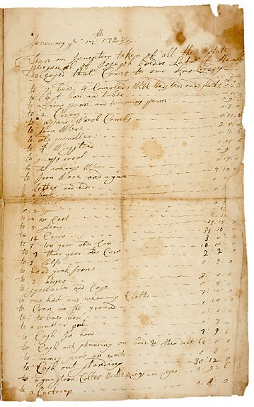 24: NY Governor George Clark Signed Document 1728