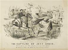 356 Lithograph 1865 The Capture of Jeff Davis
