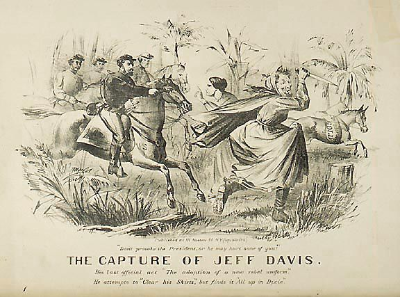 356: Lithograph (1865) The Capture of Jeff Davis