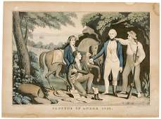 584 1845 Lithograph19th Century Early Victorian Era