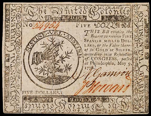 790: Continental Currency. May 9, 1776, $5