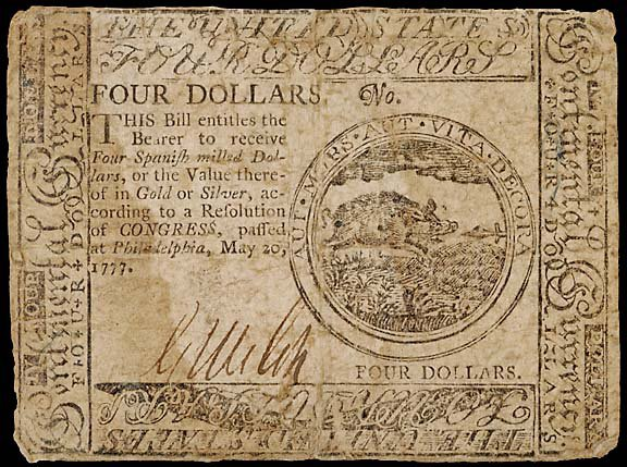 794: Continental Currency. May 20, 1777, $4