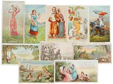 922: Encased Postage, Ayers Advertising Trade Cards