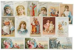 925: Encased Postage, Ayers Advertising Trade Cards
