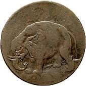 1153 1694 London Elephant Halfpenny Token