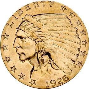 1310: 1926 Indian Head $2.50 Gold Quarter Eagle