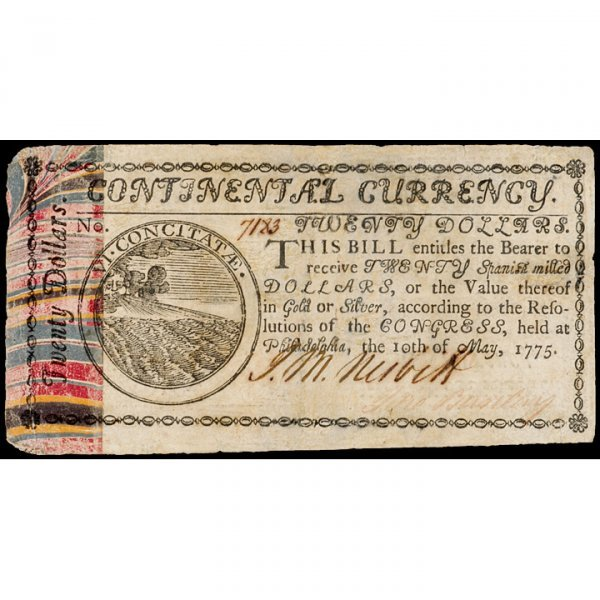 3125: Continental Currency, May 10, 1775, $20