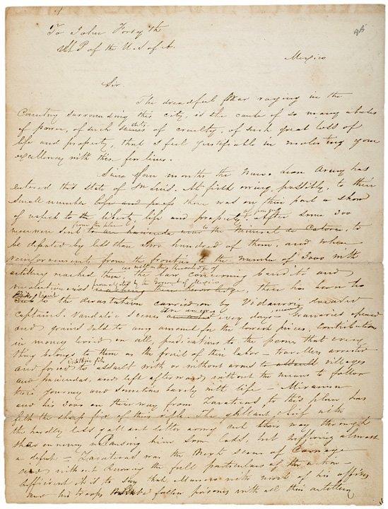 4002: MEXICAN CIVIL WAR Letter, c. 1858