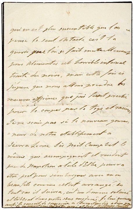4004: SIR WILLIAM SIDNEY SMITH Anti-Slavery Letter