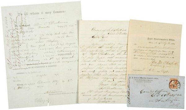 4013: 1864 Civil War Union Furlough Related Documents