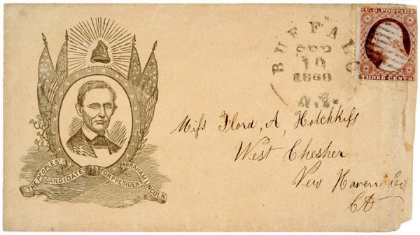 4014: 1860, Abe Lincoln Presidential Campaign Envelope