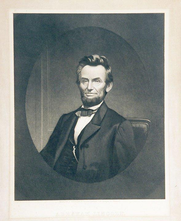 4017: c. 1865 ABRAHAM LINCOLN Print by Sartain