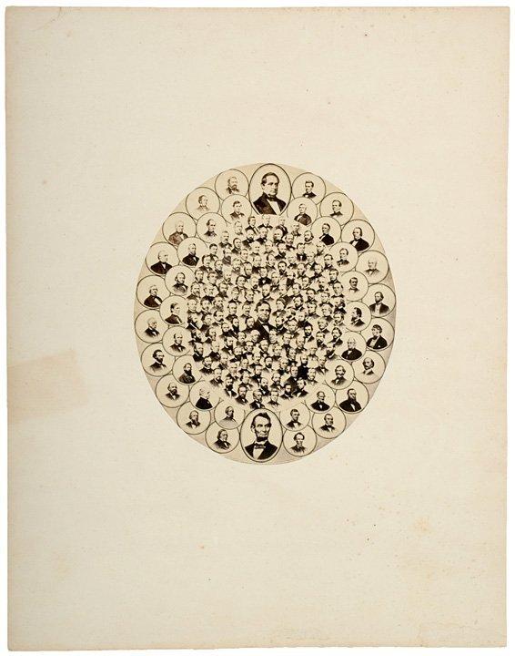 4022: 1865, Mounted Albumen of Lincoln + 38th Congress