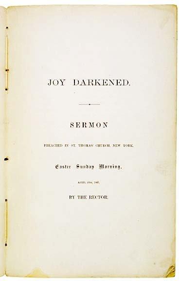 4023: Sermon on Lincoln Death, NY, 1865