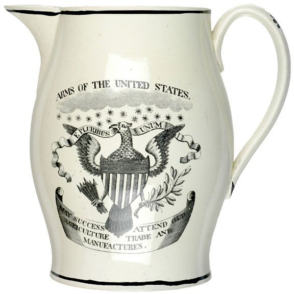 4090: Liverpool Pitcher: ARMS OF THE UNITED STATES
