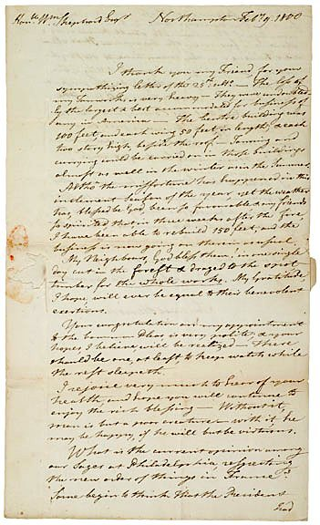 5005: Political + Historic Letter to WILLIAM SHEPARD