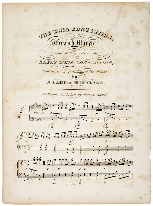 5016: 1840, Whig Convention Grand March Sheet Music