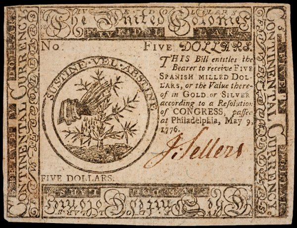 13: Continental Currency, May 9, 1776, $5