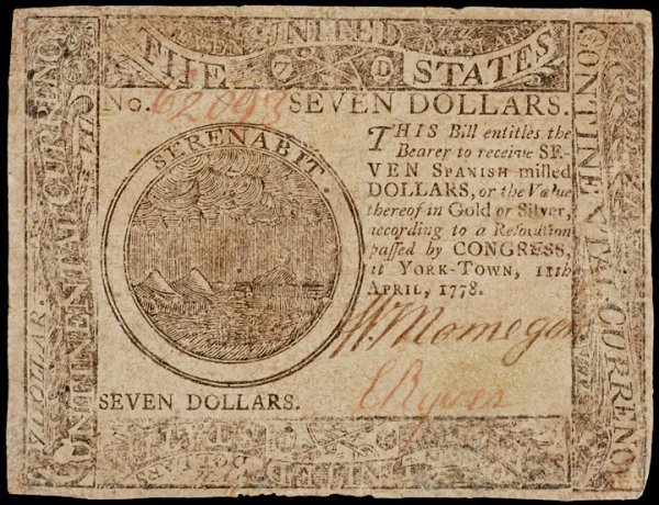 16: Continental Currency, April 11, 1778, $7