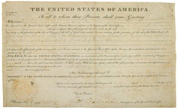 2001: JOHN QUINCY ADAMS, 1826 Document Signed