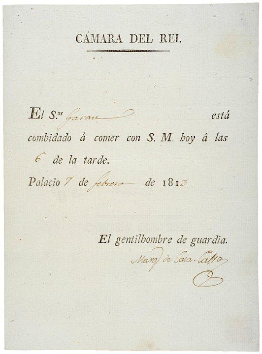2008: MARUQES DE CASA-CALVO, Rarely Seen Signature