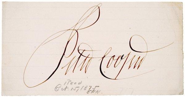 2013: PETER COOPER, Autograph Signature, undated