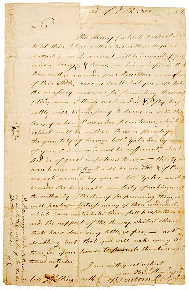 2014: 1781, Letter from Lt. Col. Henry Dearborn