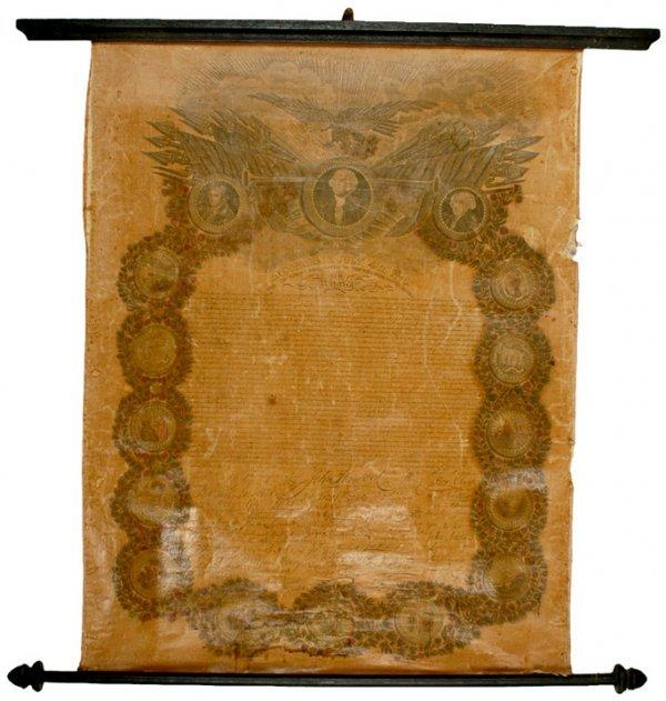 2017: DECLARATION OF INDEPENDENCE, c. 1825, Broadside