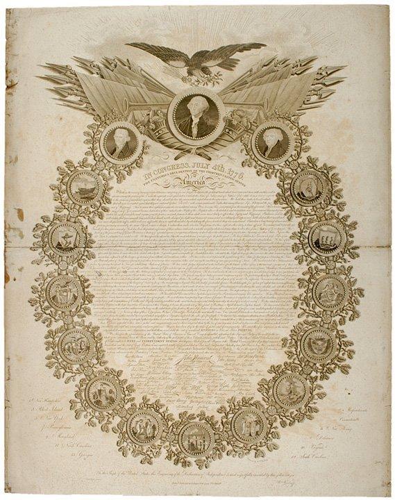 2019: Rare 1819 Printing DECLARATION OF INDEPENDENCE