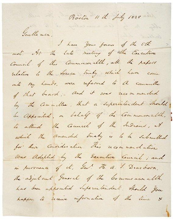 2024: EDWARD EVERETT 1838 Autograph Letter