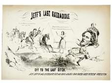 Civil War Caricature-Capture of Jeff Davis