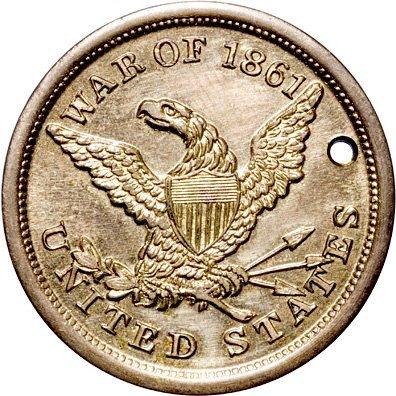 2242: 1861 Eagle Type Union Civil War Dog Tag